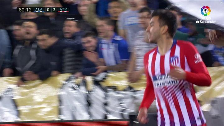 LaLiga: Alavés - Atlético Madrid. Gol anulado a Ángel Correa en el minuto 80 por fuera de juego