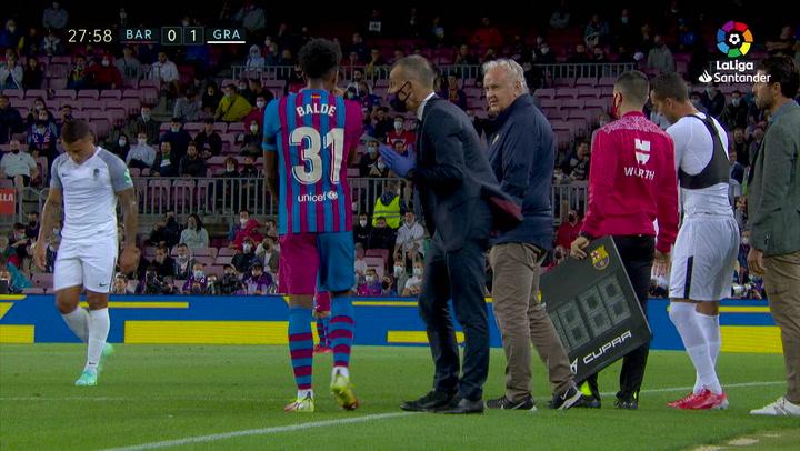 Amargo debut liguero de Alejando Balde: lesionado en el minuto 28