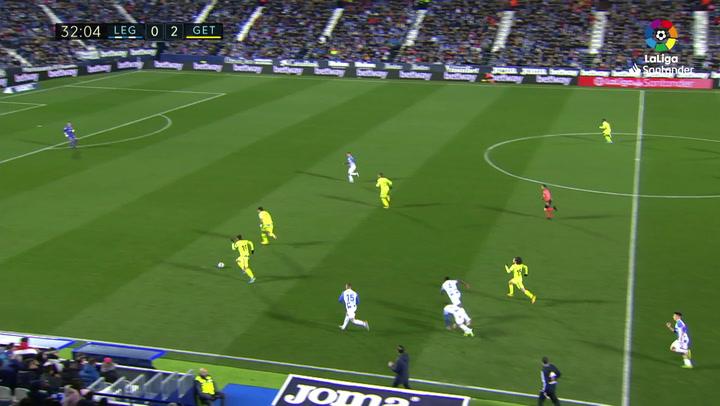 Gol de Mata (0-3) en el Leganés 0-3 Getafe