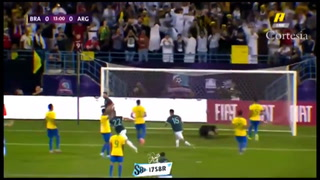 VIDEO: Lionel Messi marca en su regreso con la selección Argentina ante Brasil