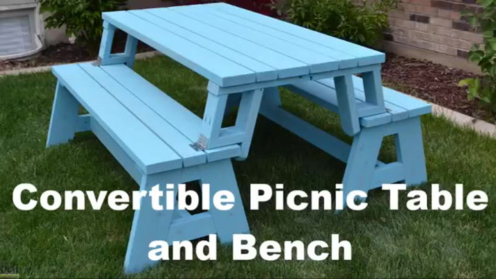 Groovy Convertible Picnic Table And Bench Ncnpc Chair Design For Home Ncnpcorg