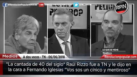 Raúl Rizzo estalló de furia contra Fernando Iglesias y Juan Acosta
