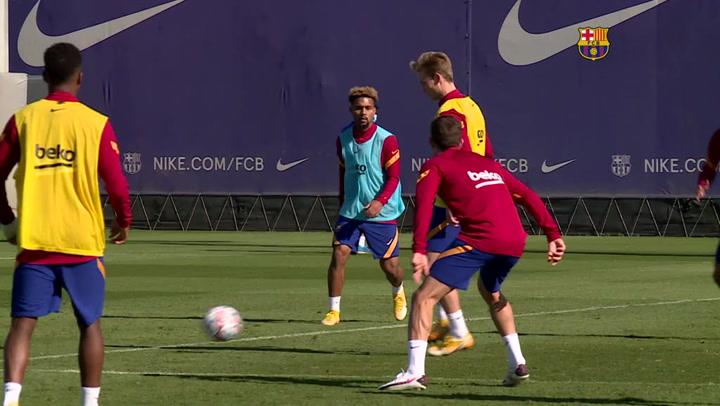 Entrenamiento del Barça pensando ya en la Juventus