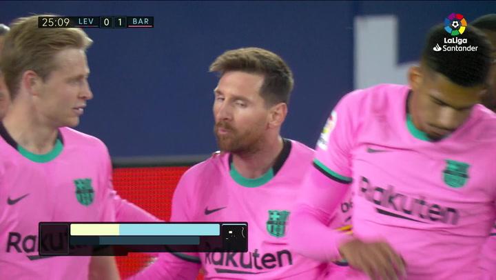 Gol de Messi (0-1) en el Levante3-3 Barcelona