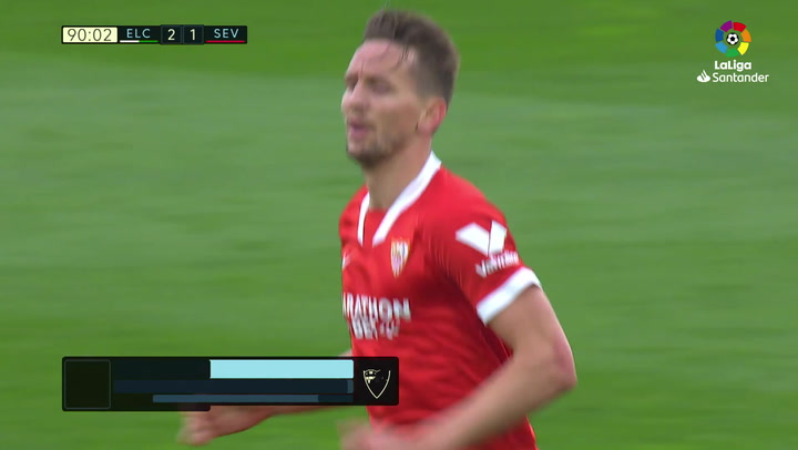 Gol de De Jong (2-1) en el Elche 2-1 Sevilla