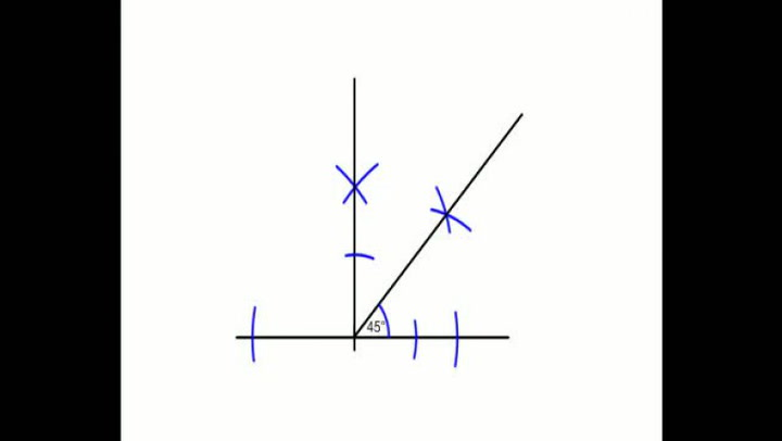Matte: Hvordan konstruere en 45-graders vinkel