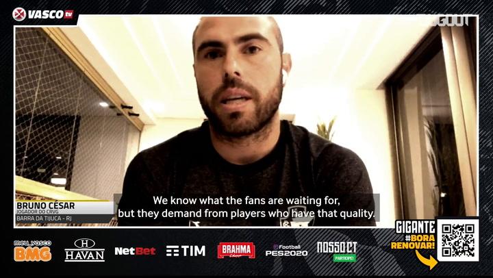 Bruno César: 'I'm happy with Vasco's second chance'