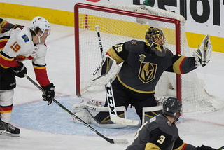 Golden Knights on bringing home a 7-3 win over the Flames