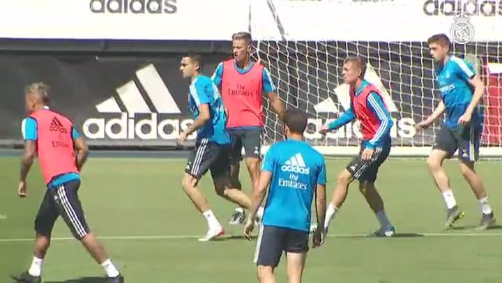 El Real Madrid comenzó a preparar el último partido de liga contra el Betis