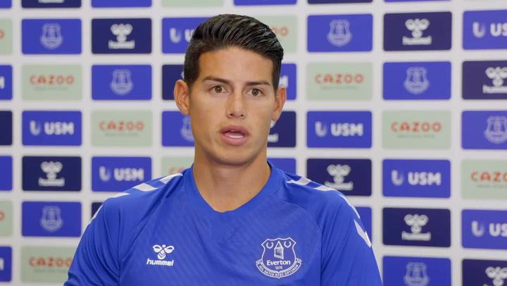 James Rodríguez y sus primeras palabras como jugador del Everton