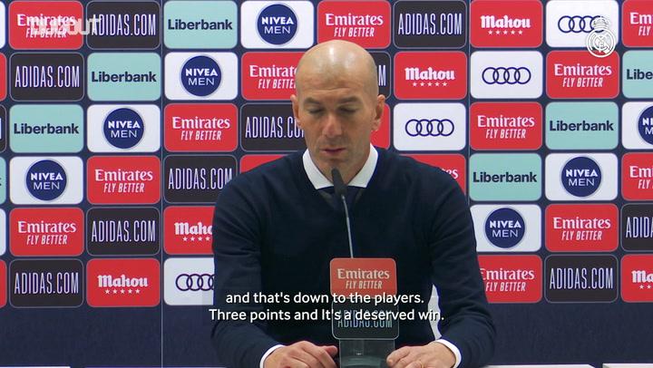 Zinedine Zidane: 'It was hard going, but it was a deserved win'