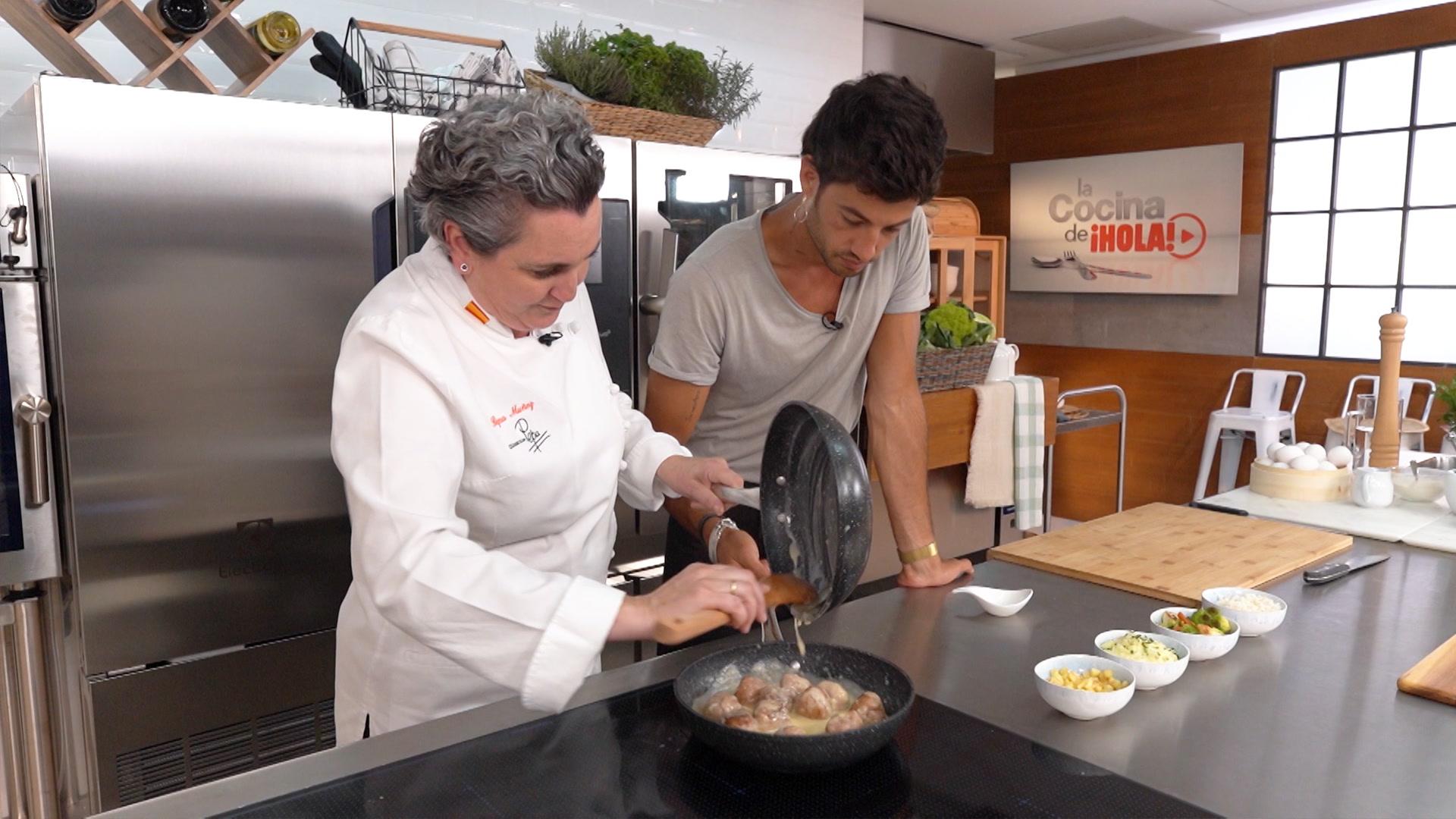 Albóndigas con salsa de cebolla, una receta de chef para toda la familia