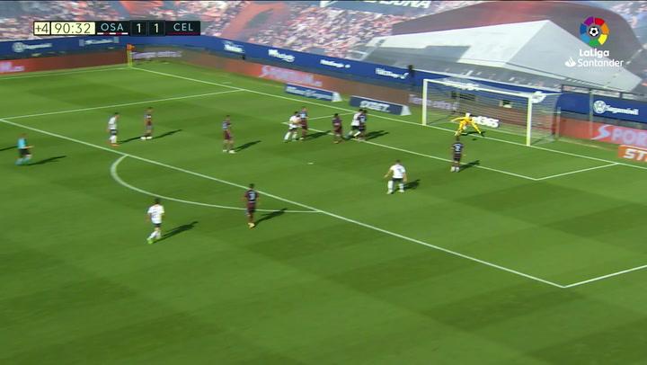 Gol de Arnáiz (2-1) en el Osasuna 2-1 Celta