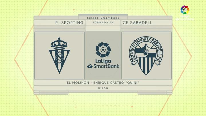LaLiga SmartBank (J14): Resumen y goles del Sporting 3-1 Sabadell