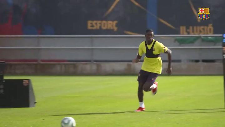 Dembélé vuelve a los entrenamientos tras la lesión