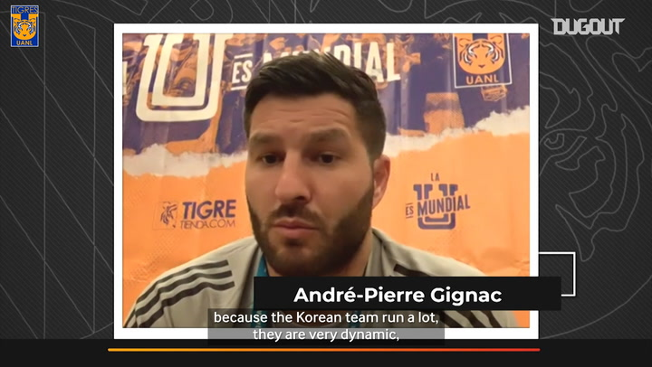 Gignac and Lucas Hernández chat ahead of the FIFA Club World Cup
