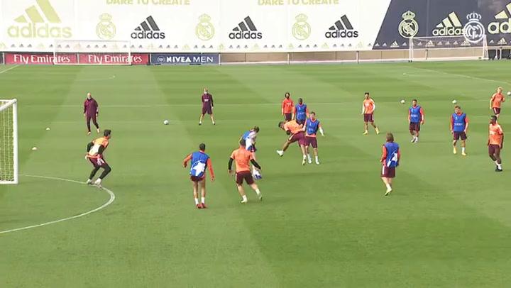 Último entrenamiento del Real Madrid antes de recibir al Inter