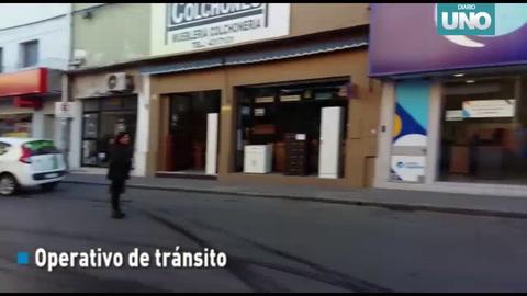 Operativo de control de tránsito en Paraná