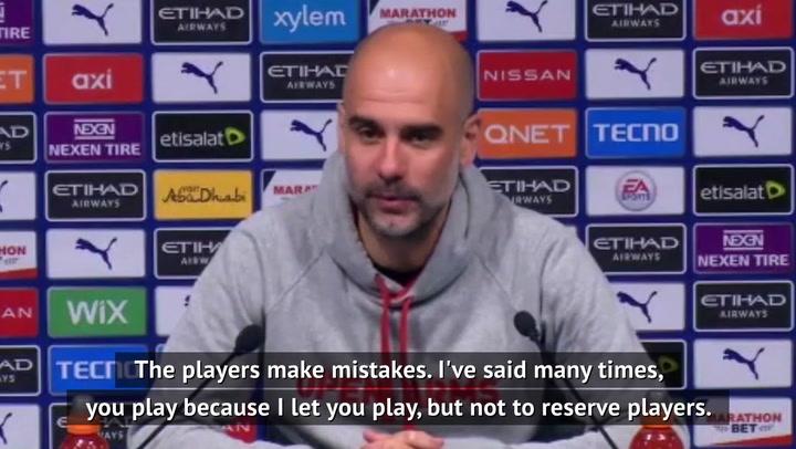 Guardiola defends City selection for Leeds defeat