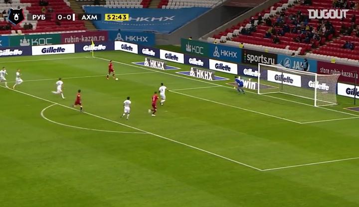 Khvicha Kvaratskhelia's brilliant goal against Terek Grozny
