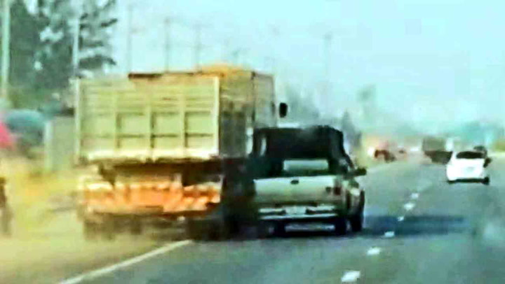 «Hodeløs» lastebilsjåfør skapte kaos på motorveien