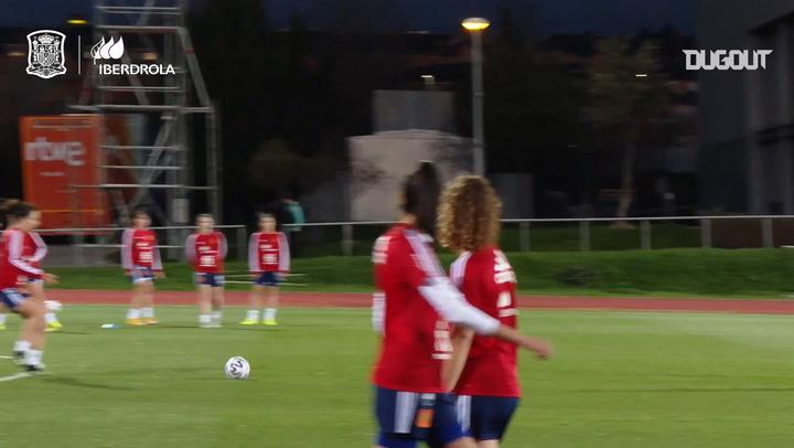 Grandes goles en el entrenamiento de la selección española femenina