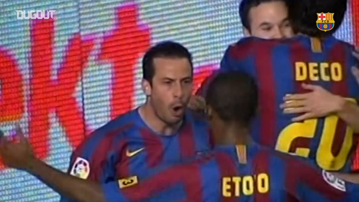 Ludovic Giuly's great chip vs Cadiz