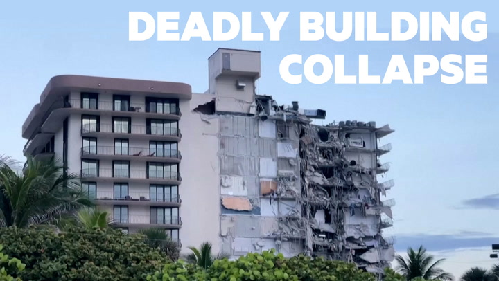 VIDEO: Residential building collapses in South Florida, killing at least one