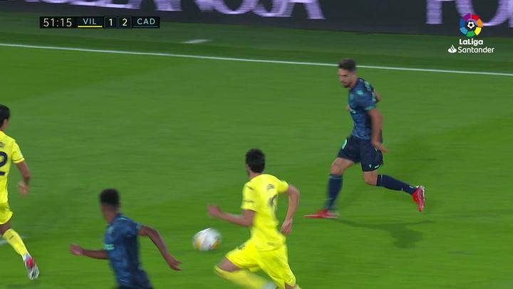 Gol de Choco Lozano (1-3) en el Villarreal 3-3 Cádiz