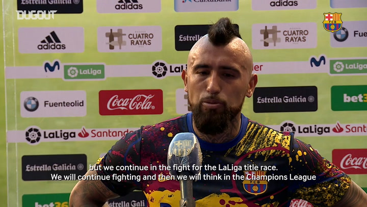 Arturo Vidal: 'We will continue fighting'