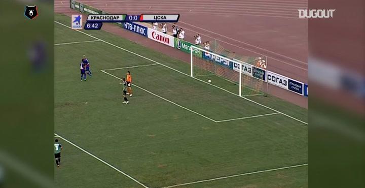 Honda's crafty goal against Krasnodar