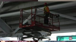 Allegiant Stadium construction resumes despite closures – Video
