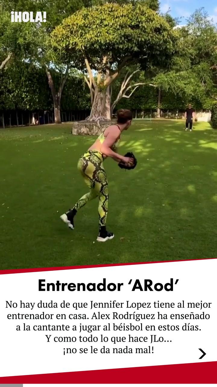¡\'Strike\'! Jennifer López aprende a batear con su entrenador favorito, Alex Rodríguez