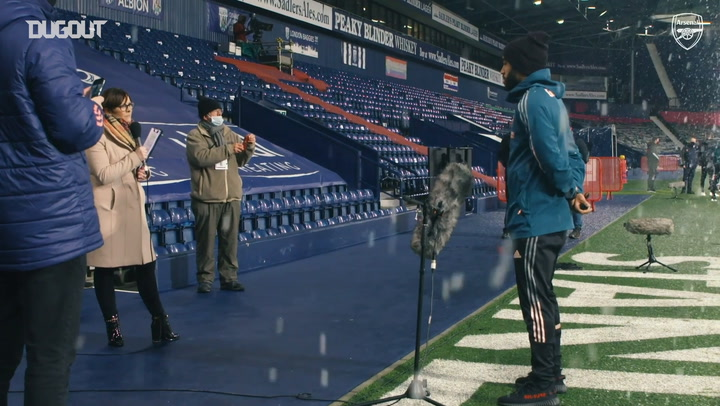 Behind the scenes: Arsenal smash four past West Brom at the Hawthorns