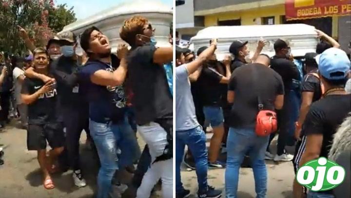 """""""Liendrita"""": familiares y amigos bailan """"chicha"""" con ataúd en hombros"""