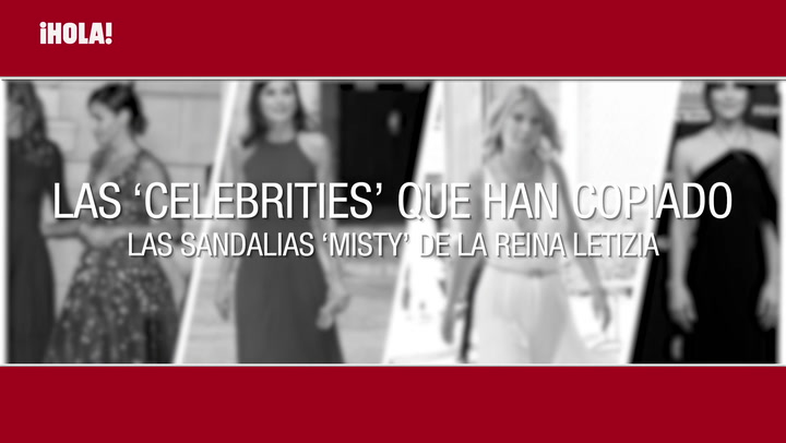 Las \'celebrities\' que han copiado las sandalias \'Misty\' de doña Letizia