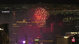 Fireworks at Caesars Palace on the Las Vegas Strip