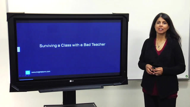 Surviving a class with a bad teacher