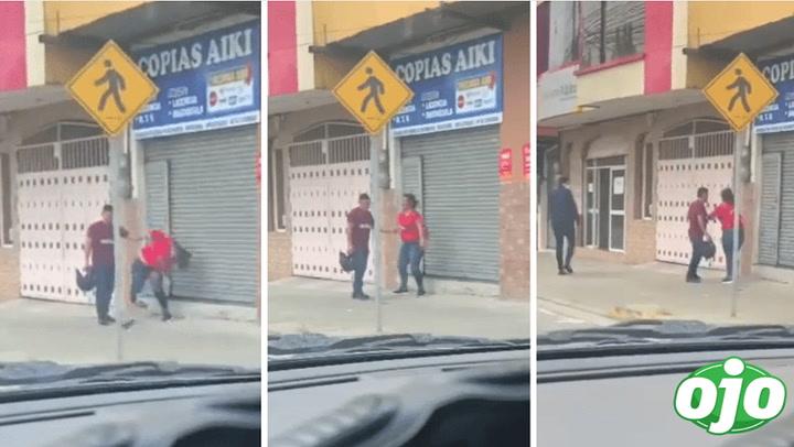 Mujer protagoniza fuerte discusión con su pareja: le rompió el celular | VIDEO