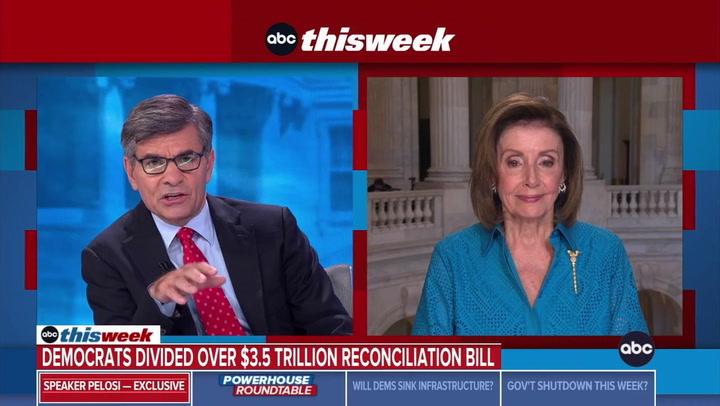 Pelosi: 'Self-Evident' 3.5 Trillion ReconciliationNumber Will Come Down