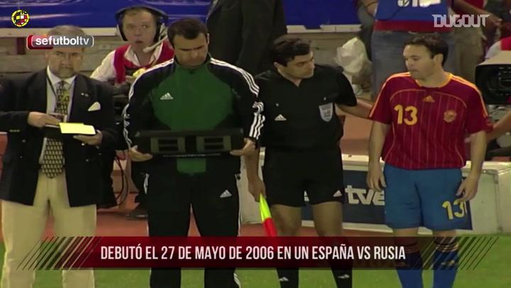 Estreia de Iniesta pela seleção espanhola