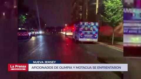 Aficionados de Olimpia y Motagua se enfrentaron en batalla campal en Nueva Jersey