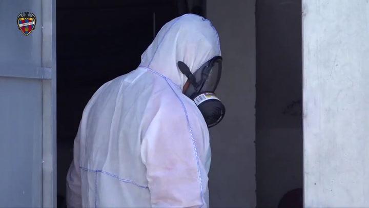 Así ha sido el proceso de desinfección de las instalaciones del Levante