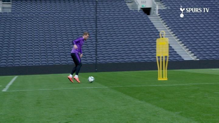 Harry Kane Trains At Spurs' New Stadium