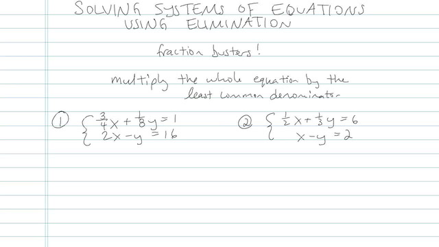 Solving Systems of Equations using Elimination - Problem 6