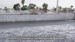 Two People Rescued In Las Vegas Wash – Video
