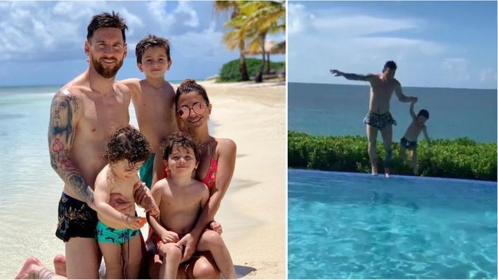 Los Messi continúan disfrutando de sus vacaciones