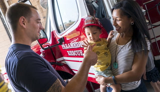 Kids become firefighters at Fire Station 98 open house