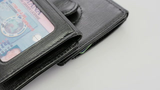 1402RL-09B SAFFIANO MONEY CLIP ID WALLET