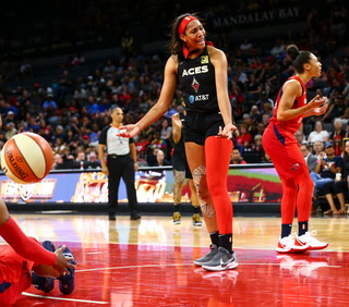 Aces fall short against Mystics, 95-72